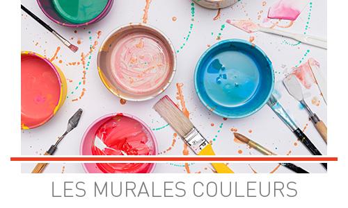 rayon peinture, les murales couleurs